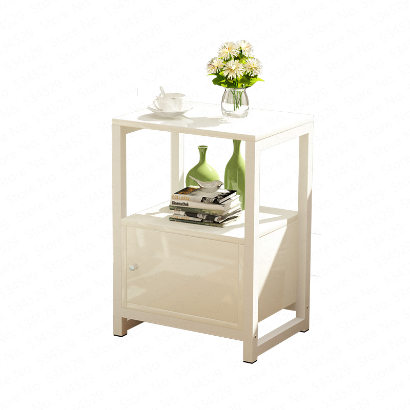 Simple Modern Wooden Tea Table Side Table Assembly Living Room Sofa Table Bedroom Bedside Table Corner Cabinet Coffee Table