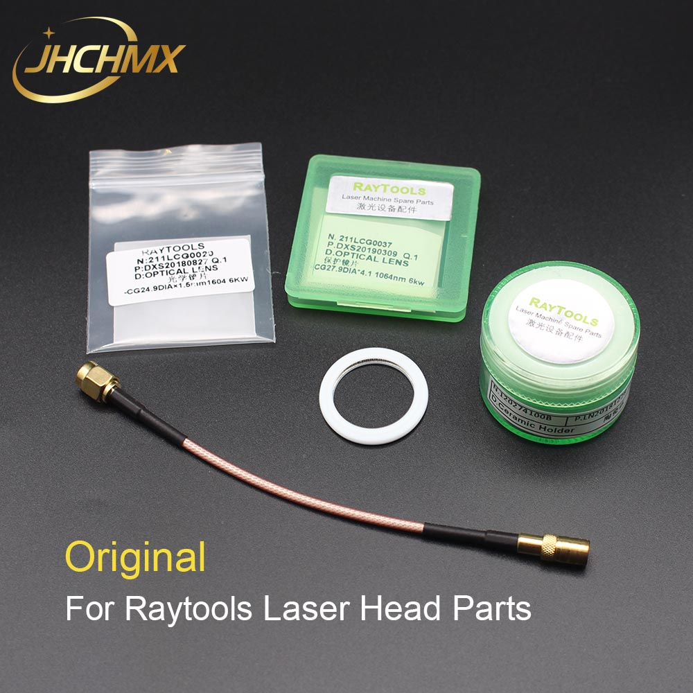 JHCHMX Original Raytools Laser Ceramic Sensor Cable Seal Ring Protective Windows 27.9*4.1/24.9*1.5mm Raytools Laser Head Parts