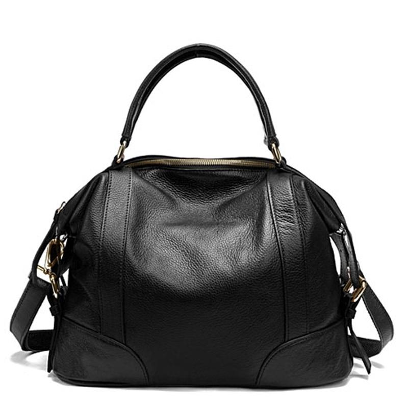 все цены на Real Genuine Leather Women's Handbag Shoulder Bags Fashion Satchel Purse Clutch Bag Messenger Hobo Mother's Day Gift онлайн