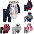 Baby Girl Boy Clothes Set Autumn Winter 2016 Kids Fashion Infant 3pcs Cotton Children Clothing Letter Girls Warm Jacket Dress