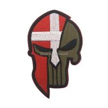 Датский национальный флаг Momon Labe вышивка патч, вышитые патчи Военная Тактическая повязка на руку вышивка для одежды швейная аппликация