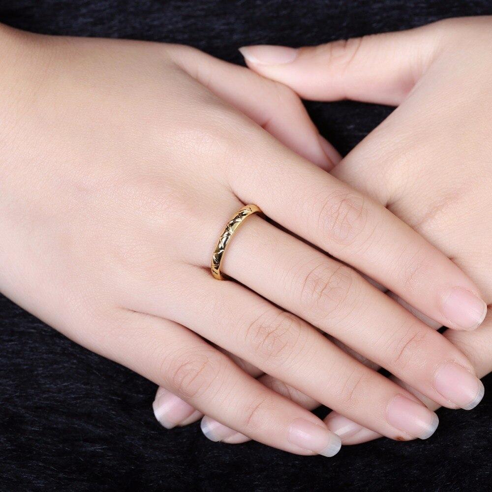 Fashion Letter V Shap Rings For Women High Quality Antiallergic ...