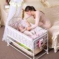 Cuna bebé eléctrica cama de bebé más el tamaño del recién nacido cuna inteligente cuna cama bb bebé impactante enviar parachoques y mosquitera