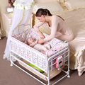 Electric baby cradle baby bed plus size newborn cradle smart bb baby shocking bed crib send bumper and mosquito net