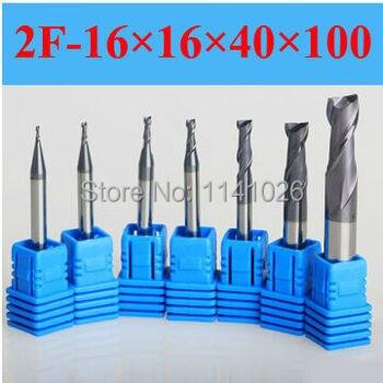 2F-16*16*40*100,HRC50,Spiral Bit Milling Tools Carbide CNC flat End mills Router bits , the lathe tool,boring bar,cnc,machine