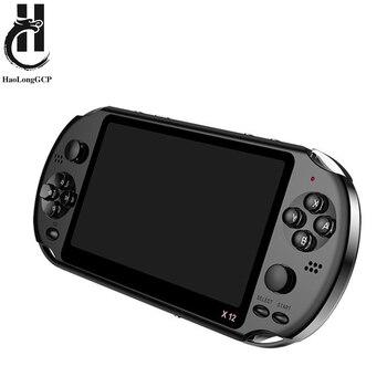 Neueste 5,1 zoll Handheld Tragbare Spielkonsole Dual Joystick 8GB werksdaten 1000 freies spiele unterstützung TV Out video spiel maschine