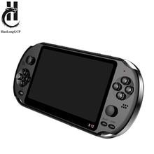 Mais novo 5.1 polegada handheld portátil game console duplo joystick 8gb pré-carregado 1000 jogos grátis suporte tv para fora máquina de jogo de vídeo
