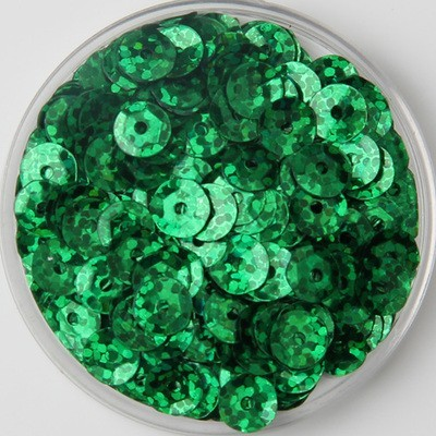 4000pcs(50g) Laser Dark Green Color Shiny 6mm Cup Round Loose Sequins  Paillettes Sewing Wedding Craft Scrapbook ad454426f231