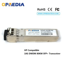 лучшая цена HP Compatible 10GBASE-DWDM SFP+ transceiver,10G 80KM C-BAND 1563.86nm~1528.77nm optical module