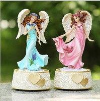 Personaliseert meisje Verjaardagscadeautjes Dansen Meisje Muziekdoos Cake Topper Baby Shower Gunsten Roze/Blauw Verjaardag Cake Topper Custom