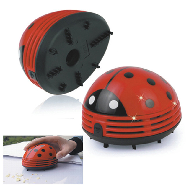 Awesome 2017 New Mini Ladybug Desktop Coffee Table Vacuum Cleaner Dust Collector  For Home Office