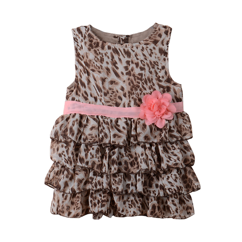 New fashion summer baby girl 39 s leopard print dress cute for Leopard print shirts for toddlers