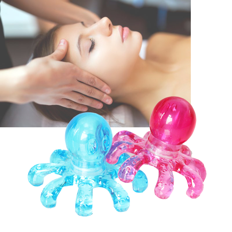 1pcs Anti-stress Tens Pain Relief Octopus Head Scalp Neck Stress Release Relax Massage Claw Body Massager Health Care A027 stress anxiety