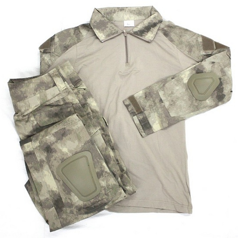 CQC Gen2 Tactical Airsoft Military Army Combat BDU Uniform Shirt & Pants Set Outdoor Paintball Hunting Clothing A-TACS