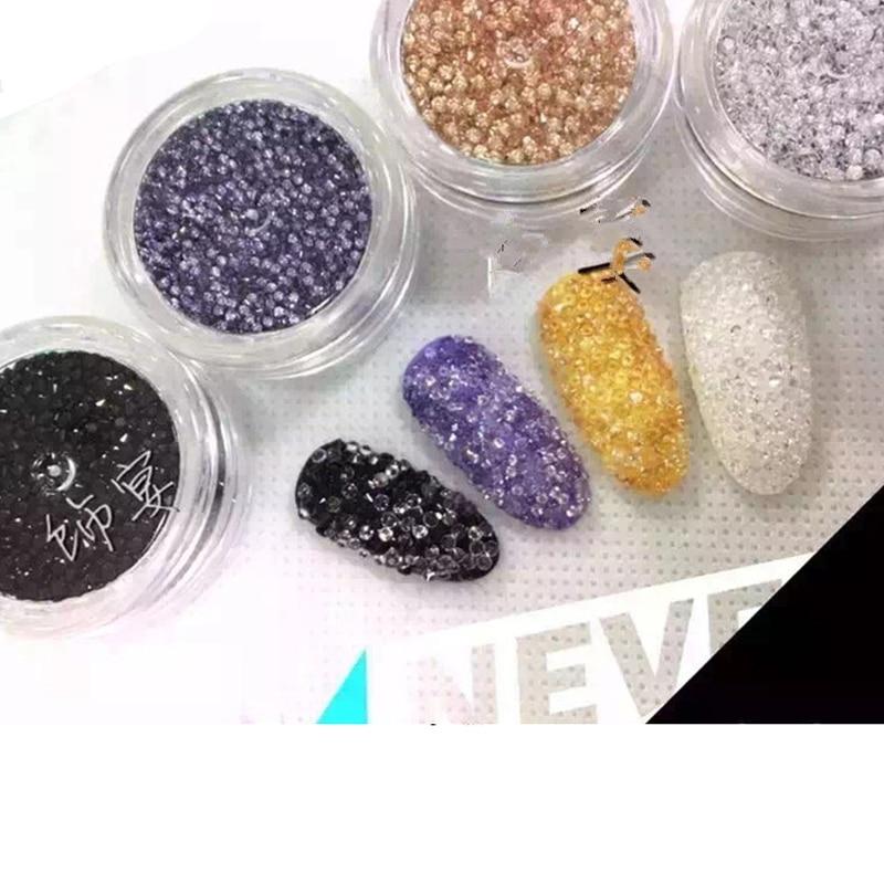 1440 stks / partij Manicures Mini Glitter Steentjes voor Nagels Arts - Nagel kunst