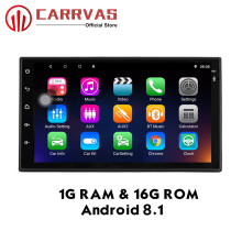 CARRVAS 2 Din Android 8.1 Car Stereo 1G RAM 16G ROM GPS Navigator 1080P Autoradio Quad Core Audio Radio Head Unit WIFI