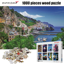 MOMEMO The Seaport Puzzle 1000 Pieces Landscape Figure Adult Wooden Jigsaw Children Educational Toys Gift Home Decoration