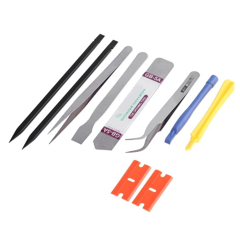 10pcs Mobile Phone Repair Tools Kit Mobile Phone Laptop Electronic Device Disassemble Screen Pry Opening Repair Hand Tools Set