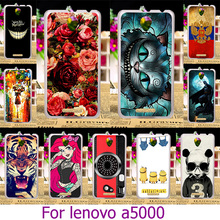 Soft TPU HardHard Plastic Painted Phone Case For Huawei For Lenovo A5000 5.0 inch A 5000 Painted Case Cat Cover Shell Housing