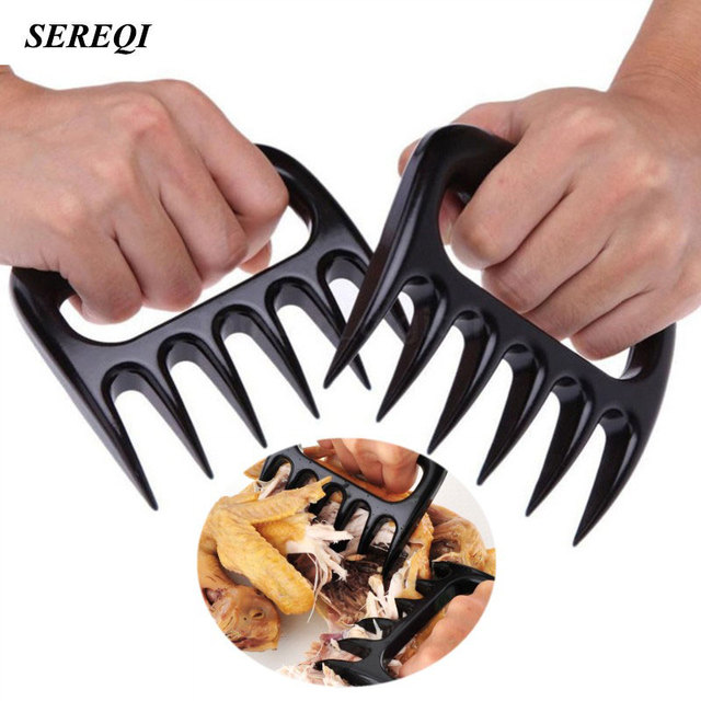 Sereqi 2pcs Set Home Kitchen Blacks Meat Claws Shredder Chicken