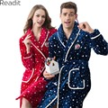 Women And Men Bathrobe for Couples Kimono Sexy Warm Long Fleece Robe Female Male Bathrobe Batas De Polar Pajama Pajamas PA1740