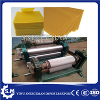 86*195mm Manual Bee Nest embossing bee wax machine chinese cheaper beeswax flat sheet machine for beekeeping