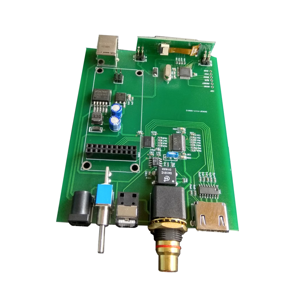 LCD display AmaneroUSB IIS digital interface to coaxial fiber optic HDMI output expansion card 24bit 384K