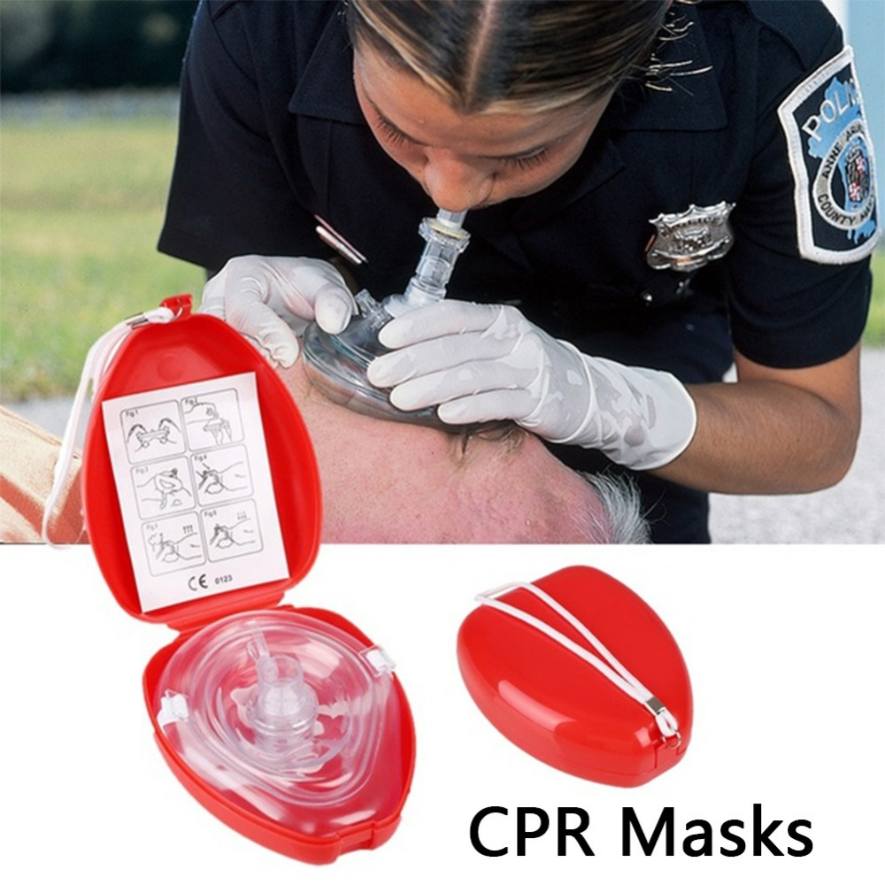Free Shipping CPR Resuscitator Rescue Emergency First Aid Masks CPR Breathing Mask Mouth Breath One-way Valve Tools
