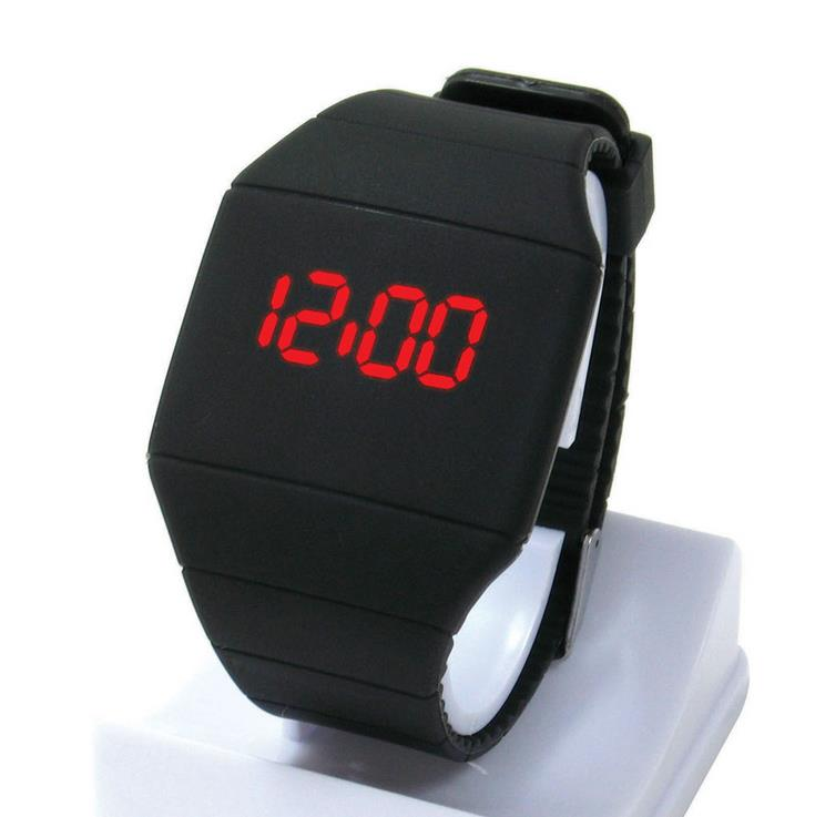 Humorous 15 Colors Men Women Sports Led Touched Screen Silicone Digital Wrist Watch Lxh Watches