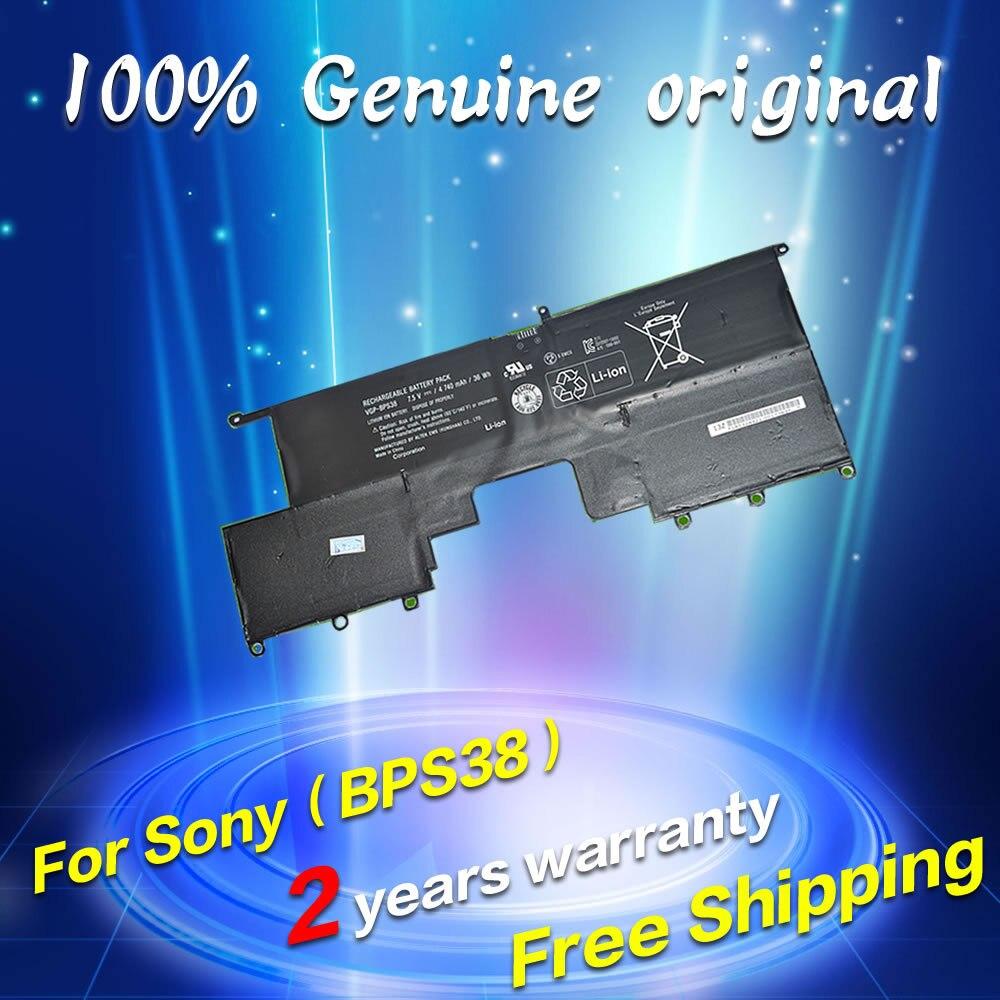JIGU Free shipping VGP-BPS38 BPS38 Original laptop Battery For SONY vaio Pro 13 Pro 11 SVP13 series 7.5V 4740MAH endo жилет