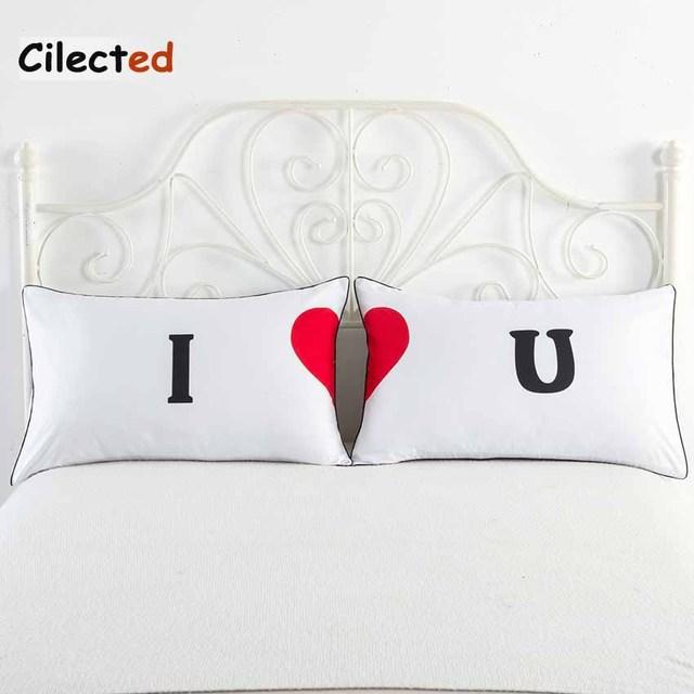 Cilected Dekorative Kissenbezug Ich Liebe Dich Bettwäsche Valentinstag  Geschenke Für Ihn Oder Sie Kissenbezug Ein Paar