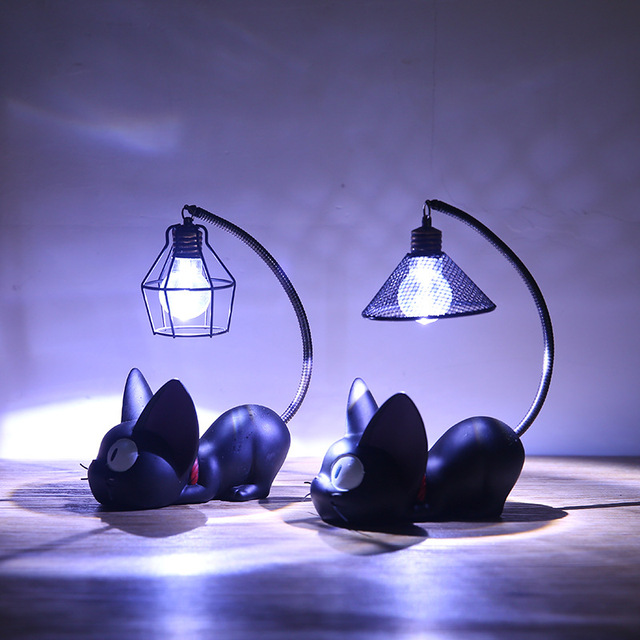 Home Decoration Miniature Small Cat Night Light Resin Crafts Decoration
