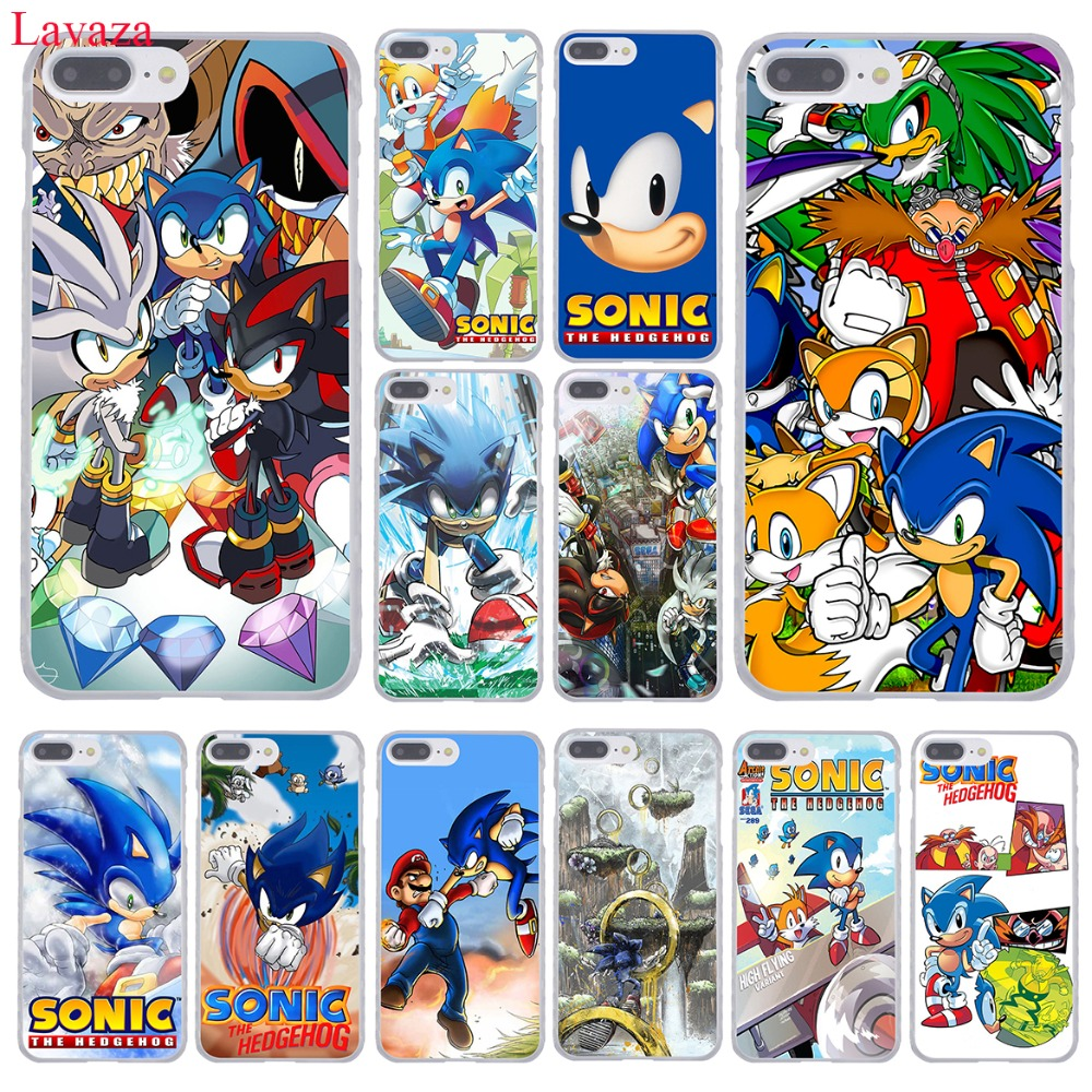 Lavaza Sonic la série hérisson coque de téléphone rigide pour iPhone XR XS X 11 Pro Max 10 7 8 6S 5 5S SE 4S 4 Cover