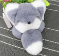 HOT 8 colors 18cm Fashion Moe Fox Rabbit Fur Bag Monster Bag Bugs Charm Keychain Plush Toys pompom key chain car keyring Trinket