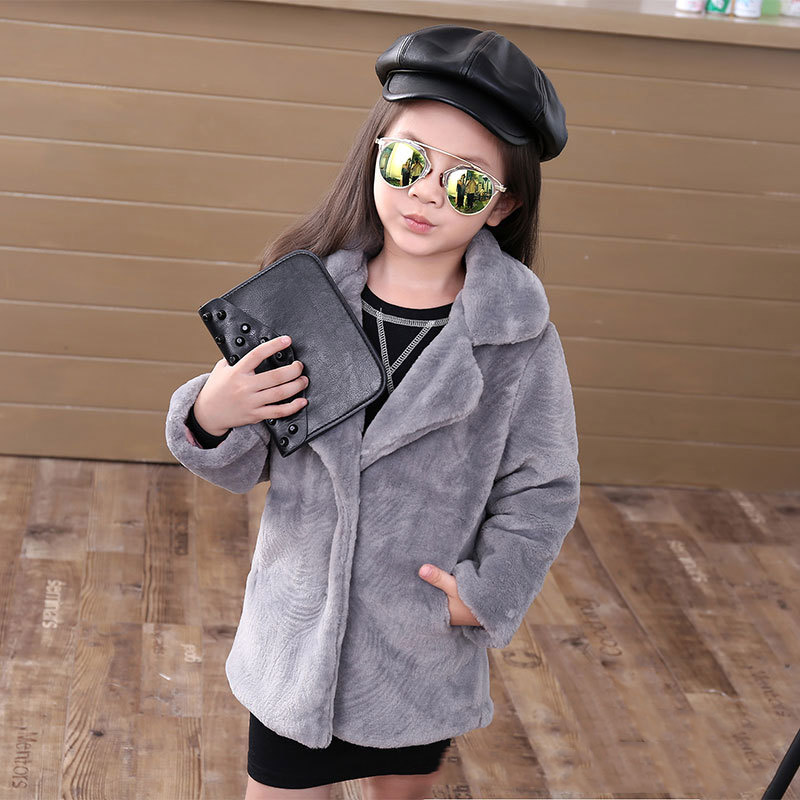JKP 2018 autumn and winter new foreign trade children's clothing imitation fur girls jacket thick warm jacket tide coats FPC-241 спортивная футболка foreign trade and exports ni ke