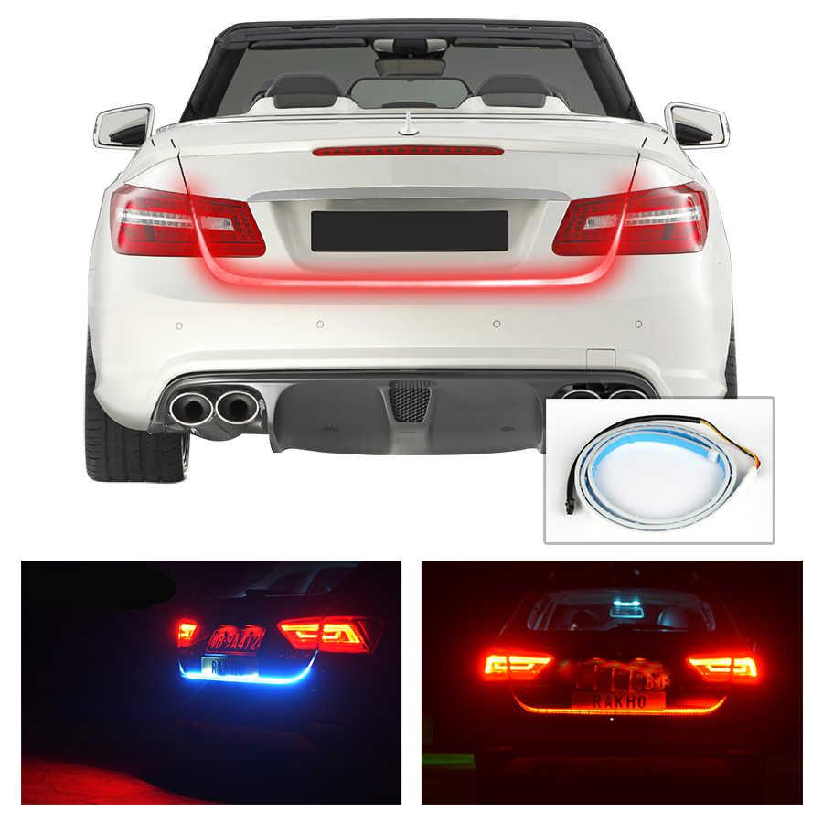 Okeen 1.2 M 12V Merah Biru Jenis Aliran LED Mobil Bak Truk Strip Tahan Air Rem Mengemudi Sinyal Giliran Lampu Mobil styling Kualitas Tinggi