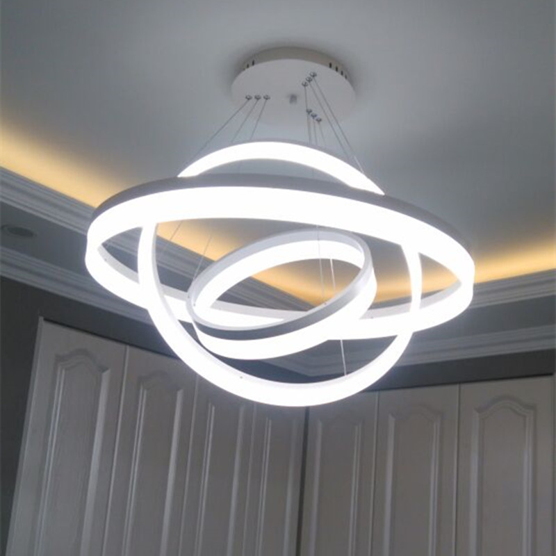 A1 Led living room dining modern pendant lights ring fashion personality creative pendant lamp art bedroom hall Pendant lamps edison inustrial loft vintage amber glass basin pendant lights lamp for cafe bar hall bedroom club dining room droplight decor