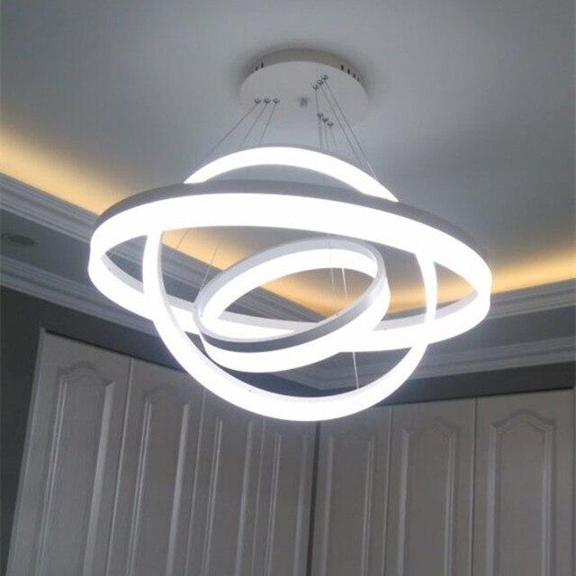 Lampa Led Salon Jadalnia Nowoczesne Lampy Wiszące Pierścień Mody
