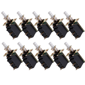 10 Pcs/Set AC 250V 2A/8A Latching SPST Push Button Power 2Pin Switch SW-3 Switches