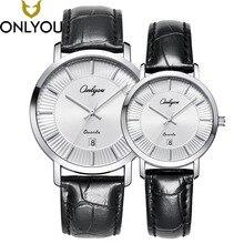 ONLYOUU Lover Watches Women Simple Wristwatch Men Top Fashion Casual Brand Watch Gift Female Waterproof Quartz Clock Wholesale