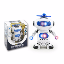 Children Toys 360 Rotating Smart Space Dance Robot Electronic Walking Toys with Music Light Gift for Kids White Red new 360 degree rotation smart space electric robot dancing music light toy children gift sell hotting