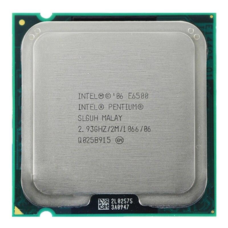 For Intel Pentium E6500 CPU Processor (2.93Ghz/ 2M /1066GHz) Socket 775 Free Shipping