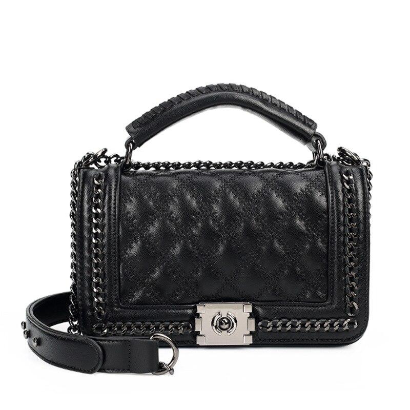 Women Messenger Bags Ladies Chain Shoulder Bag Fashion Crossbody Bag Double-use Quilted Chain Bags Brand Le Boy Handbag цена