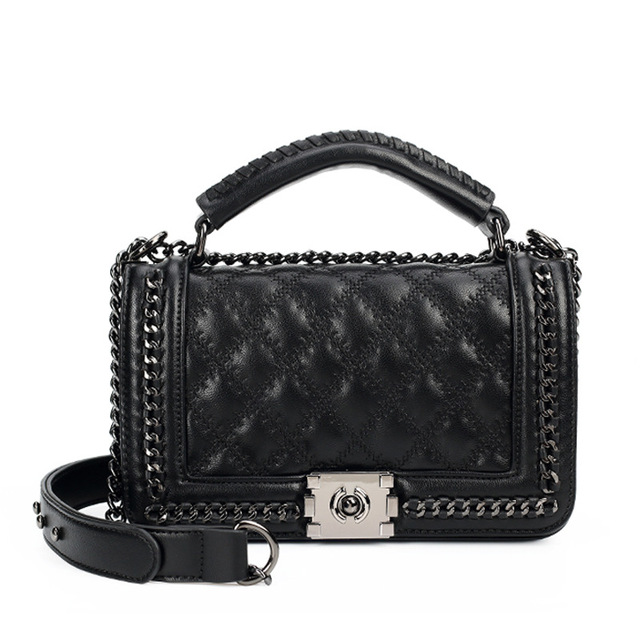200bd49950 Women Messenger Bags Ladies Chain Shoulder Bag Fashion Crossbody Bag  Double-use Quilted Chain Bags Brand Le Boy Handbag