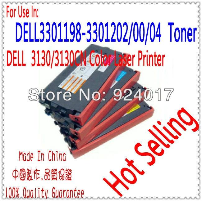 Color Toner Cartridge For Dell 3130 3130cn 3130cnd Printer Laser,For Dell 3130 330-1198 330-1202 330-1200 330-1204 Toner Reset compatible for dell w5210n 5310n 5210 5310 laser printer or copier toner cartridge reset chip