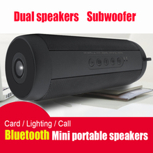 Портативный Беспроводной Bluetooth Динамик стерео Hi-Fi Коробки открытый Водонепроницаемый Поддержка SD карты памяти FM Радио Super Bass высокое качество