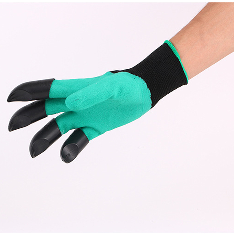 High Quality 1 Pair Universal Safety Work Garden Gloves Dipped ABS Plastic Claws for Outdoor Garden Planting Protective Size L high quality 1 pair right