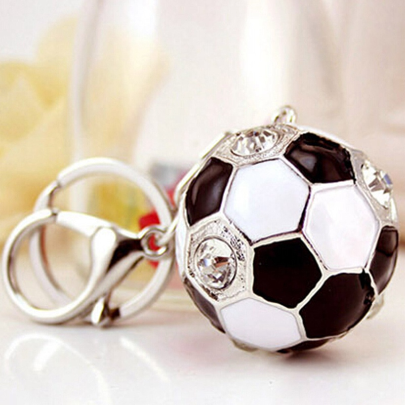 Delicate Football Keychain - White Hot Selling Football Basketball Keyring Sports Metal Keychain Car Key Chain Key Ring