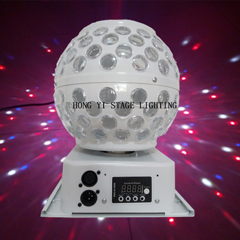 цена на Mini RGB LED MP3 DJ Club Pub Disco Party Crystal Magic Ball Light and Music Ball Stage Effect Light
