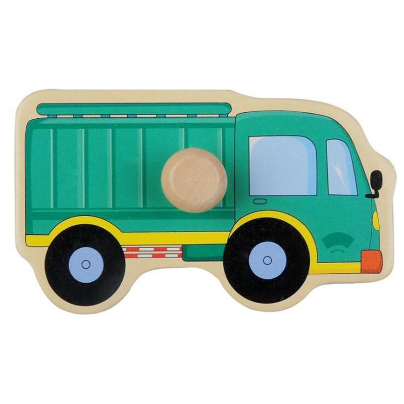 Wooden Cartoon Traffice Montessori Educational Toy Transportation ...